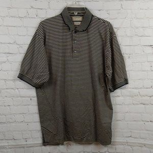 Dunbrooke Club Collection Men Striped Polo Shirt L